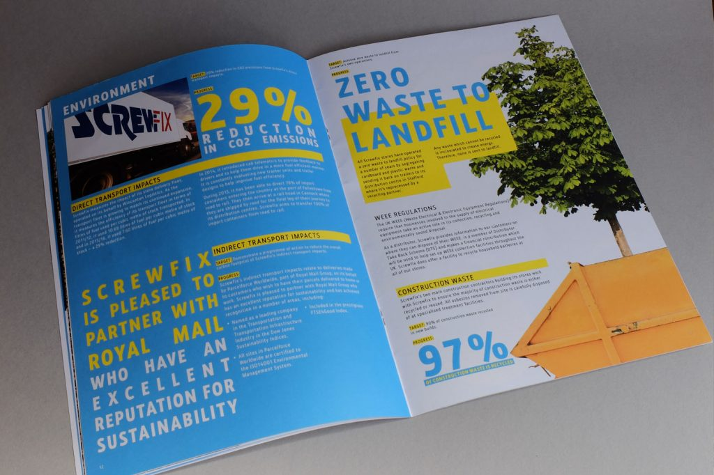 Sustainability Report Spread